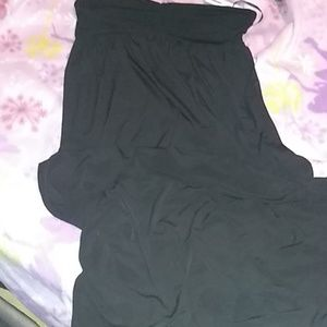 Halter top long black dress